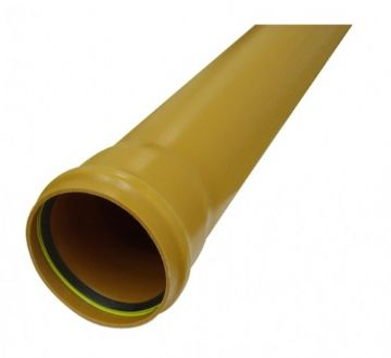 Underground Drainage Single Socket Pipe 3m Long - 110mm